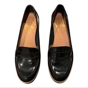 Crown Vintage Black Penny Loafers